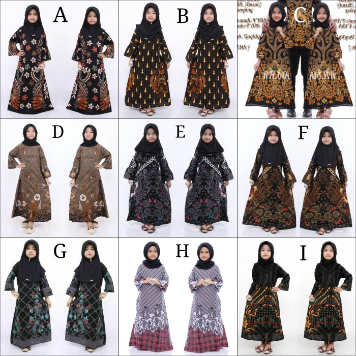 Jual Gamis Batik Anak Baju Batik Gamis Anak Perempuan Dress Anak Muslimah Kota Pekalongan Santun Batik Tokopedia