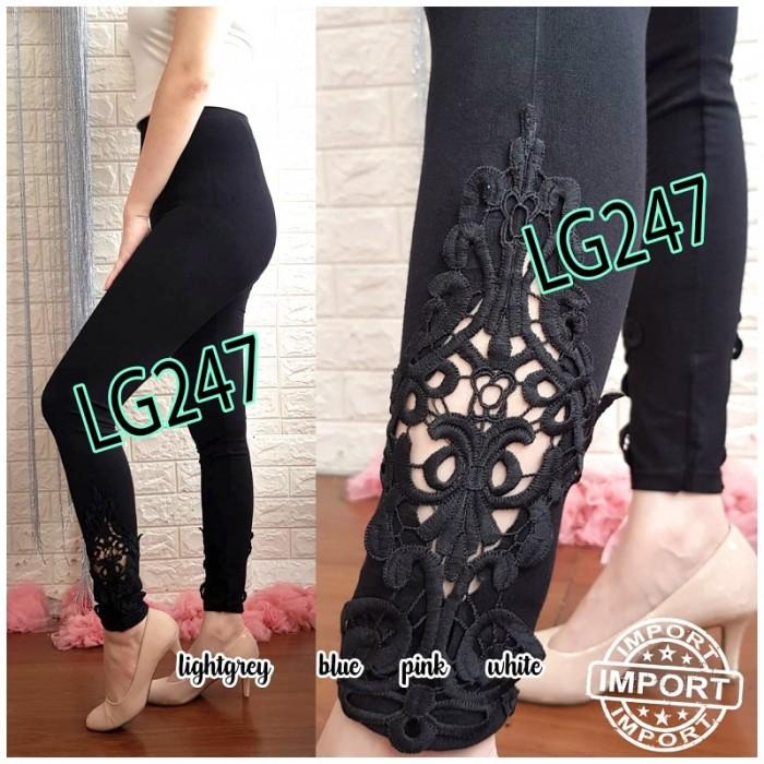 Jual Lg247 Celana Legging Wanita Panjang Hitam Motif Kekinian Import Murah Jakarta Utara Pattern Indo Tokopedia