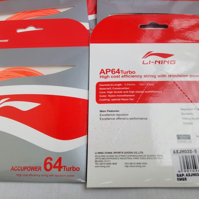 Foto Produk Senar Badminton Lining AP 64 Turbo dari maestro sport 77