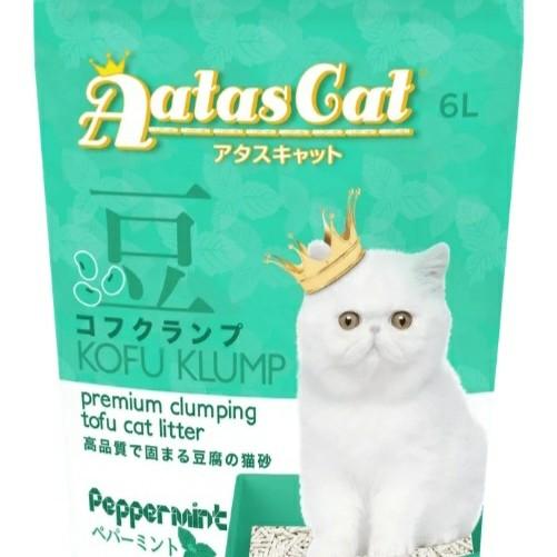 Foto Produk Aatas Cat Kofu Klump Tofu Cat Litter Clump Pasir Kucing Tahu Soya - PEPPERMINT dari Hime petshop
