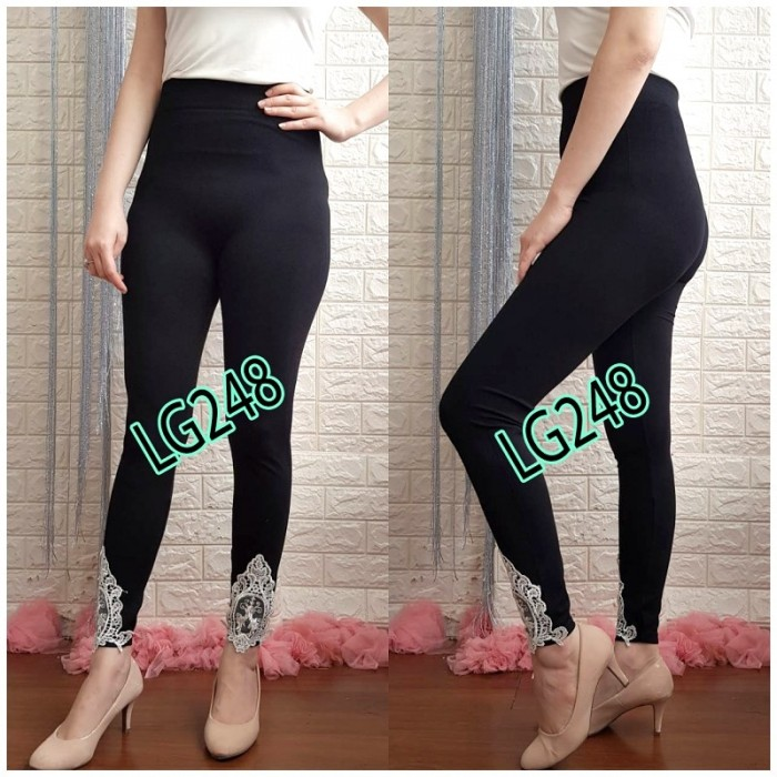 Jual Lg248 Celana Legging Wanita Panjang Hitam Motif Kekinian Import Murah Jakarta Utara Pattern Indo Tokopedia
