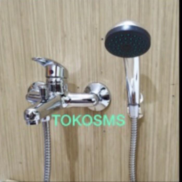 Foto Produk Kran bath tub set kran bathtub komplit kran mixer shower bathub dari tokosms