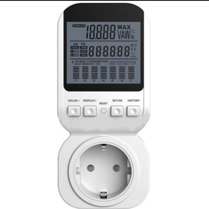Foto Produk Energy Power Meter Alat Pengukur Daya Watt Voltase Ampere dari GG outlet