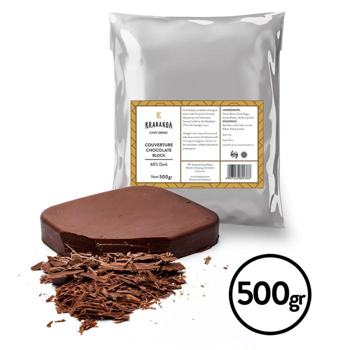 Foto Produk 60% Dark Chocolate Couverture - 500gr dari Krakakoa Official