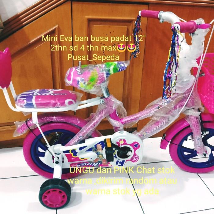 """Foto Produk sepeda mini ban eva untuk anak perempuan merek Erminio ukuran 12 """" dari Pusat_Sepeda"""
