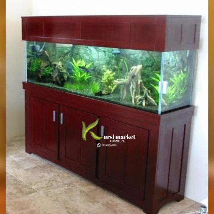 Jual Bufet Aquarium Minimalis Tempat Aquarium Ikan Hias Arwana Kayu Jati Kab Jepara Kursimarket Tokopedia