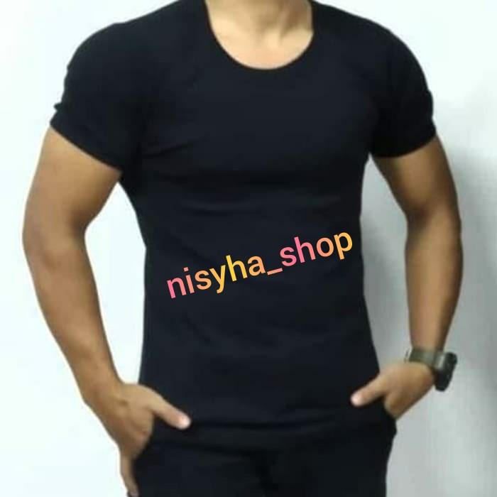 Foto Produk kaos dalam pria polos/kaos oblong / kaos dalem - Hitam dari NISYHA_SHOP