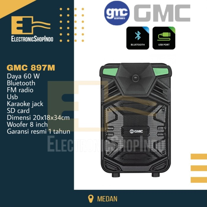 Jual Speaker Portable Gmc 897m Bluetooth Speaker Multimedia Gmc Speaker Kota Medan Electronicshopindo Tokopedia