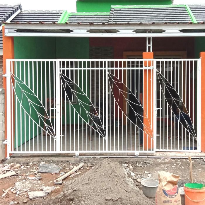 Jual Pintu Pagar Minimalis Motif Daun - Kab. Bekasi - Anugrahkaryamandiri |  Tokopedia