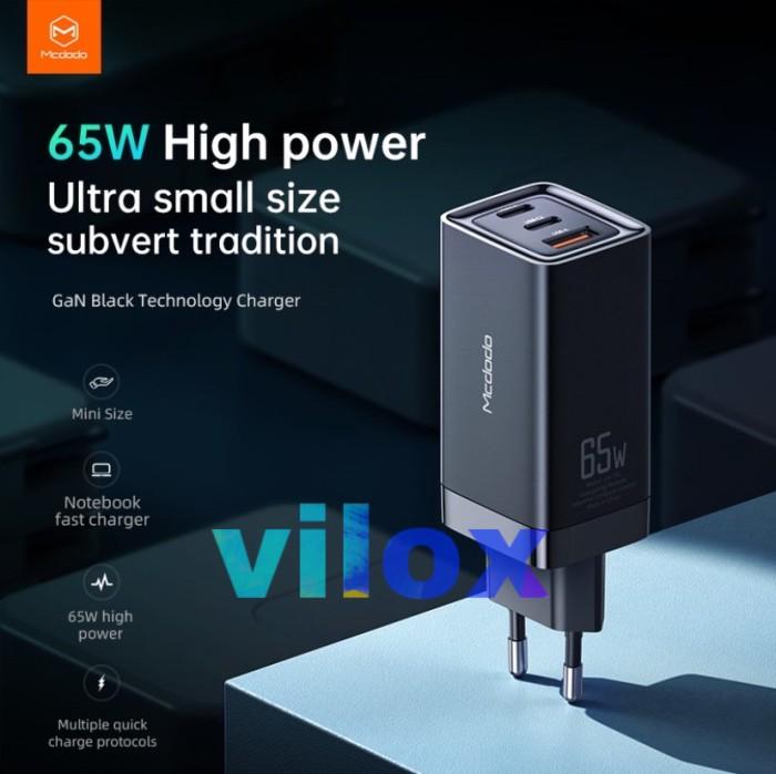Foto Produk mcdodo adapter fast super charger pd afc qc 3.0 4.0 Gan 65w macbook dari Vilox