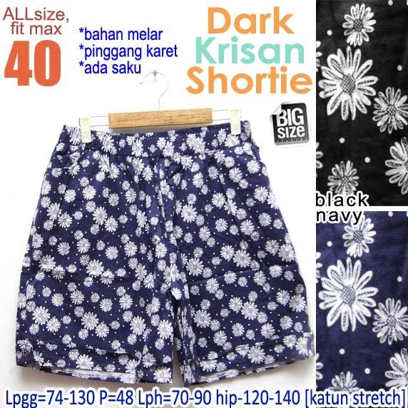 Foto Produk Dark Krisan Shortie size 40 Celana Pendek Wanita Ukuran Besar dari Mali BigSize Clothing