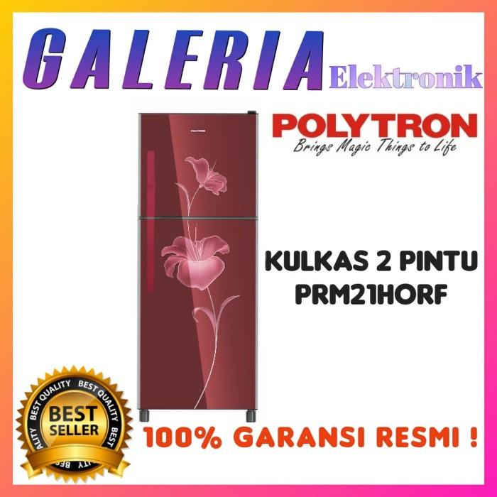 Foto Produk KULKAS 2 PINTU POLYTRON PRM21HORF LEMARI ES PRM 21 HORF TEMPERED GLASS dari GALERIA ELEKTRONIK