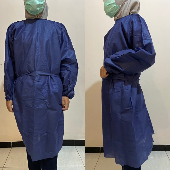 Foto Produk Gown APD disposible / surgical gown/ gown apd warna cream dari Dinardent