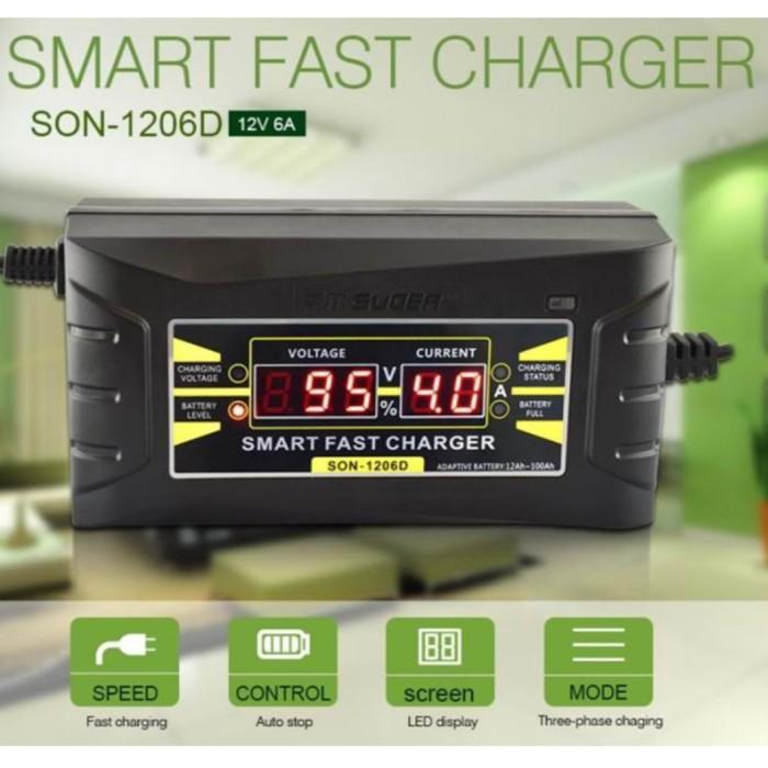 Foto Produk Smart Fast Charge Accu 12V Cas Aki Digital Motor Mobil CA03 dari GG outlet