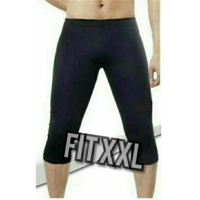 Jual Celana Bawahan Manset Legging 3 4 Gym Fitness Running Renang Pria Xl Hitam Kota Bekasi Kima Fashion Shop Tokopedia