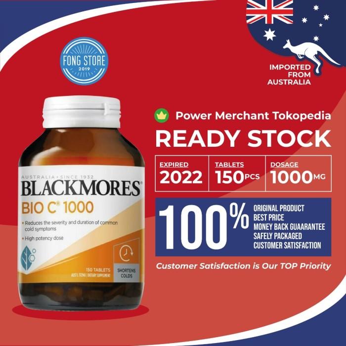 Foto Produk Suplemen vitamin C BLACKMORES 1000mg 150 tablet 100% Australia dari FongStore