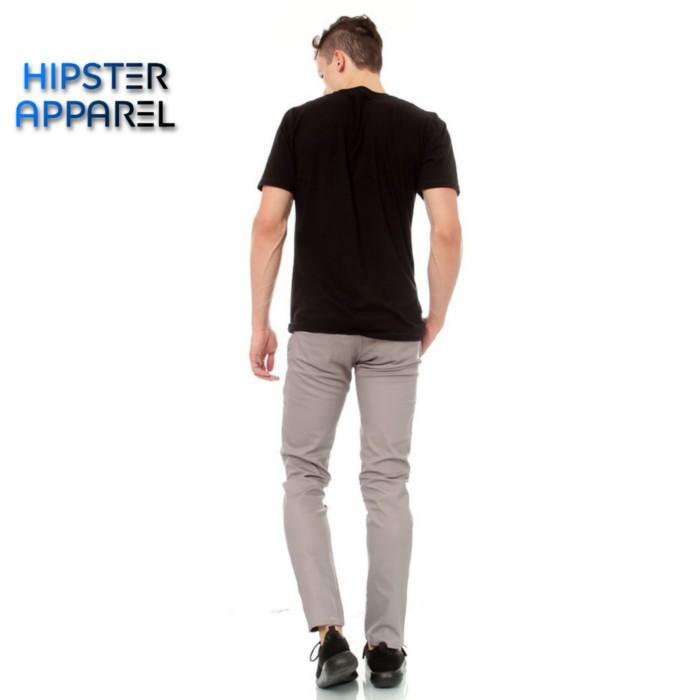Foto Produk Hipster celana panjang chino warna light grey/silver/perak - Perak, S dari Hipster Official