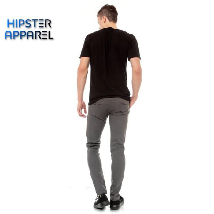 Foto Produk Hipster celana chino panjang warna abu/grey - Abu, M dari Hipster Official