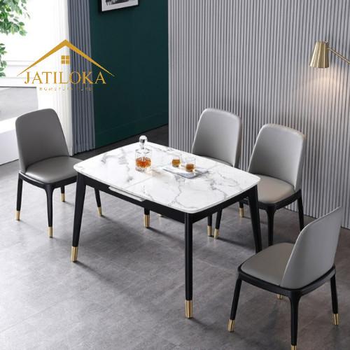 Jual Faux Dining Table Set Meja Makan Minimalis Set Meja Makan Marmer 150cm Kab Jepara Jatiloka Furniture Tokopedia