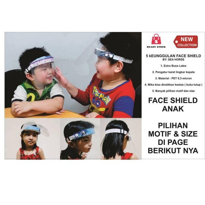 Foto Produk Masker Face Shield Anak Motif dari TUKUMURAYO INDO PACK