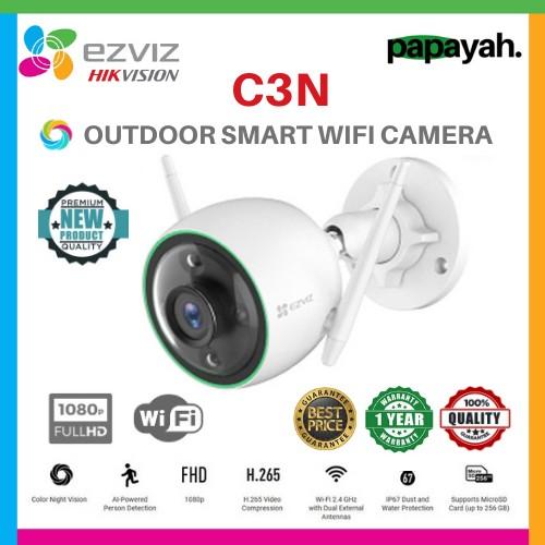 Foto Produk EZVIZ C3N 1080P COLOR NIGHT VISION OUTDOOR IP CAM SMART IR WIRELESS - C3N dari Papayah
