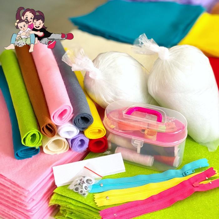 Foto Produk Paket Edukasi Kerajinan Kain Flanel Zara Cute dari zara_cute