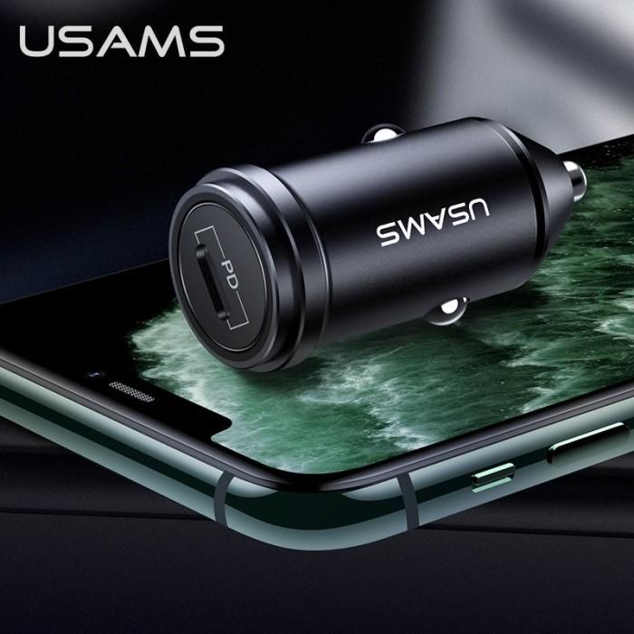 Foto Produk usams fast pd car charger mobil 18w iphone x xr 11 ipad pro max type c dari Vilox
