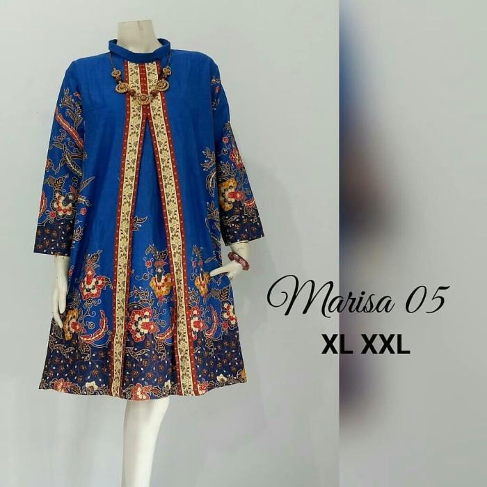 Foto Produk Baju atasan blouse wanita batik katun halus jumbo ld 120 marisa dari TABASAMA