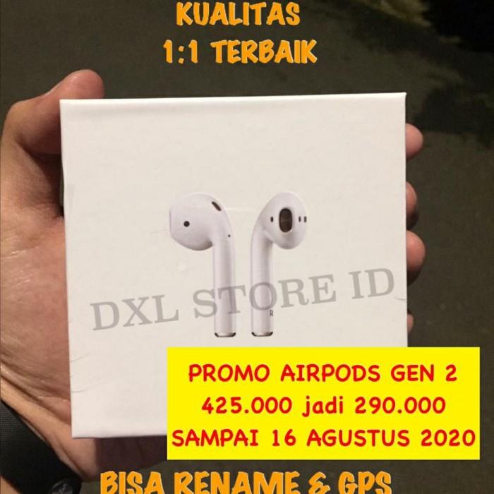 Foto Produk Airpods 2 Apple Mirror Clone 1:1 Pop Up Gen 2 Headset Bluetooth Rename dari DXL STORE ID