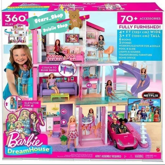 Jual Barbie Dream House 3 Floor Original Mainan Rumah Barbie 3 Lantai Jakarta Utara Stars Shop Tokopedia