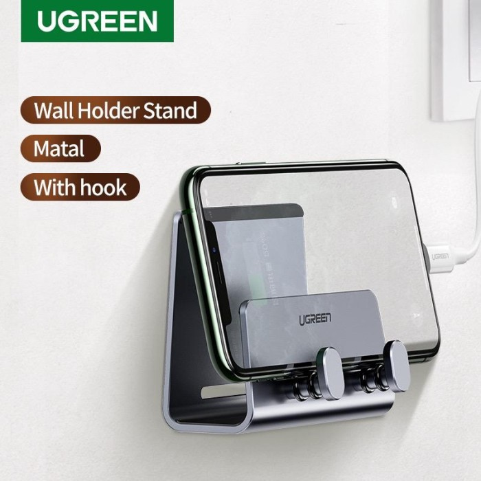 Foto Produk Ugreen Alumunium Wall mount Phone holder Grey 70584 dari Ugreen ID