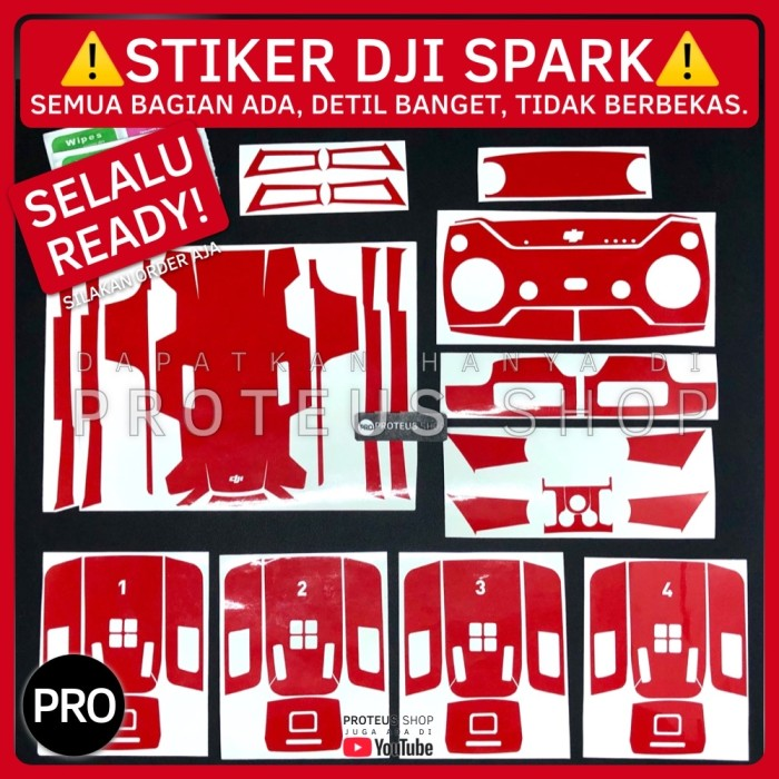Foto Produk ✅ STIKER SKIN STICKER DRONE DJI SPARK FULL SET REMOTE BATRE dari Proteus Shop