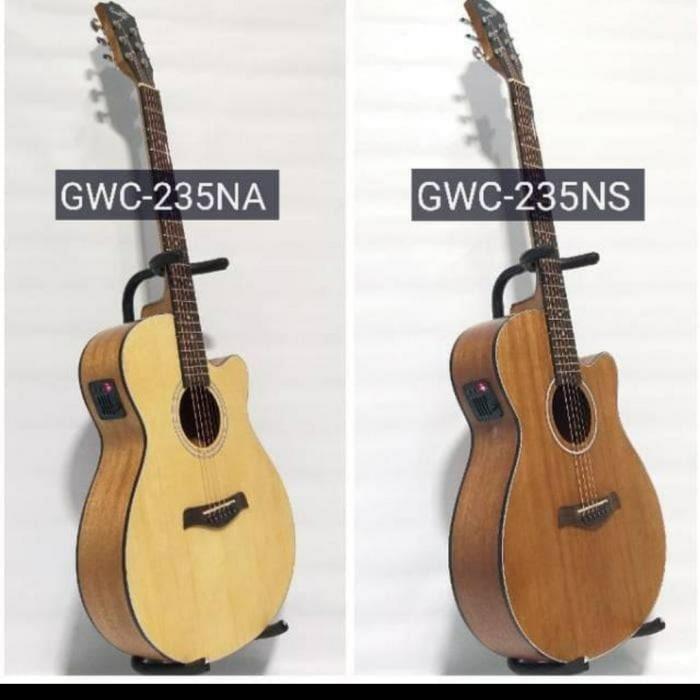 Foto Produk Gitar cowboy akustik elektrik GWC-235 eq Tuner layar dari JakartaUndercover.id