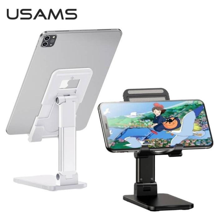 Foto Produk usams stand holder dudukan hp phone iphone ipad pro mini tab samsung - Putih dari Vilox