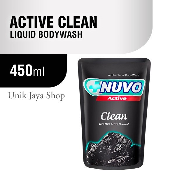Foto Produk NUVO SABUN CAIR CLEAN ACTIVE CHARCOAL 450ML dari Unik Jaya Shop