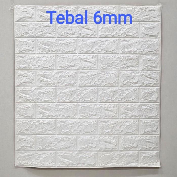 Foto Produk Wallpaper Dinding 3D Bata 70 x 77 cm Brick Foam - Bata Putih 6mm dari Maju Interior