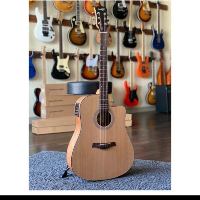 Foto Produk Gitar Akustik Elektrik Tuner Cowboy GWC-240NA ORIGINAL BONUS LENGKAP dari JakartaUndercover.id