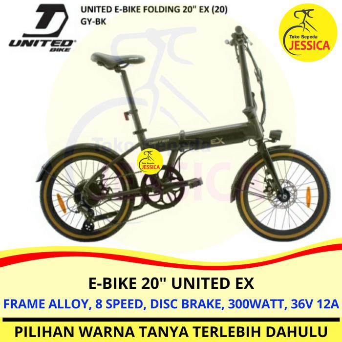 Jual Sepeda Lipat E Bike 20 United Ex Electric Bike Sepeda Listrik Kota Tangerang Sepeda Jessica Tokopedia
