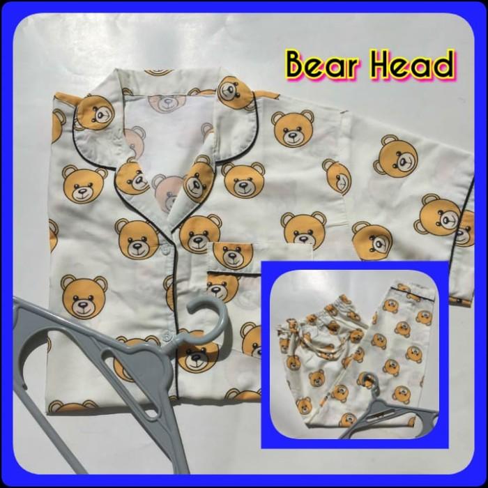 Foto Produk Piyama Katun Wanita Dewasa Bear Head - Celana Pendek dari Jasmine Clothing Line