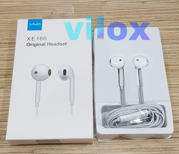 Foto Produk hf handsfree earphone vivo xe160 jack 3.5mm dari Vilox