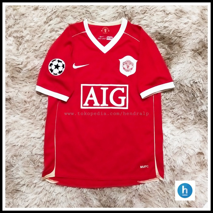 Foto Produk Jersey Manchester United 2006-2007 Home UCL CR7 dari hendralp