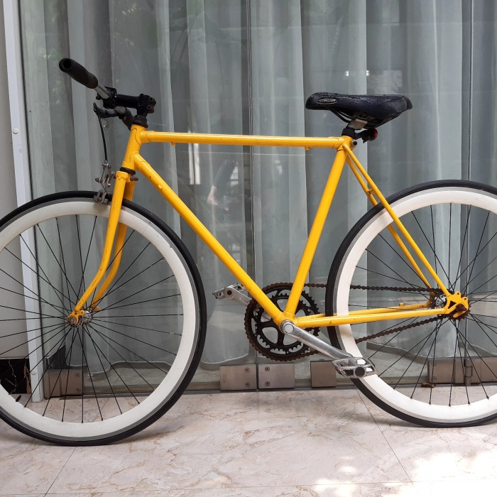 Jual Sepeda Fixie Kuning Frame Rangka Onthel Langka Jakarta Pusat Toko Adheevasha Tokopedia