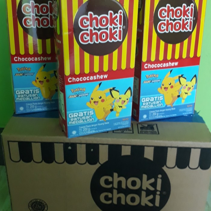 Foto Produk choki Choki Chochocashew Pokemon 200 gr(20 x 10gr) dari Sumber Berkah Boga