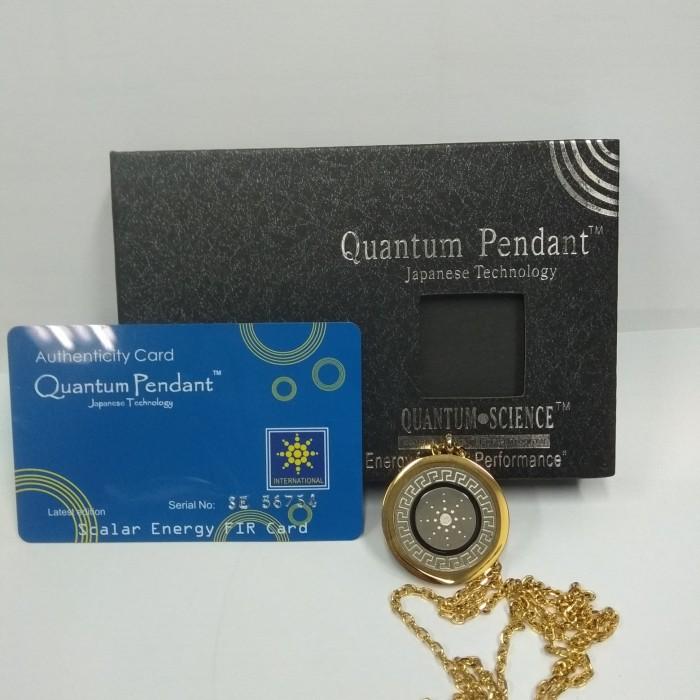 Foto Produk Kalung Kesehatan Quantum Pendant Motif Gold dari Vintaco