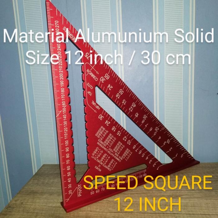 Jual Premium Speed Square 12 Inch Besar 30 Cm Penggaris Segitiga Merah Kab Bekasi Mr D Berkah Mandiri Tokopedia