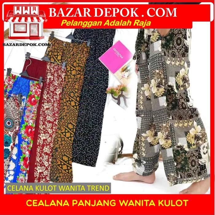Foto Produk Celana Wanita Panjang Kulot - Maroon dari Bazar Depok