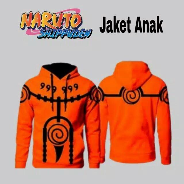 Foto Produk Natanshop-Jaket Anak Anime Naruto Shippuden - Orange, S dari Natanshop_