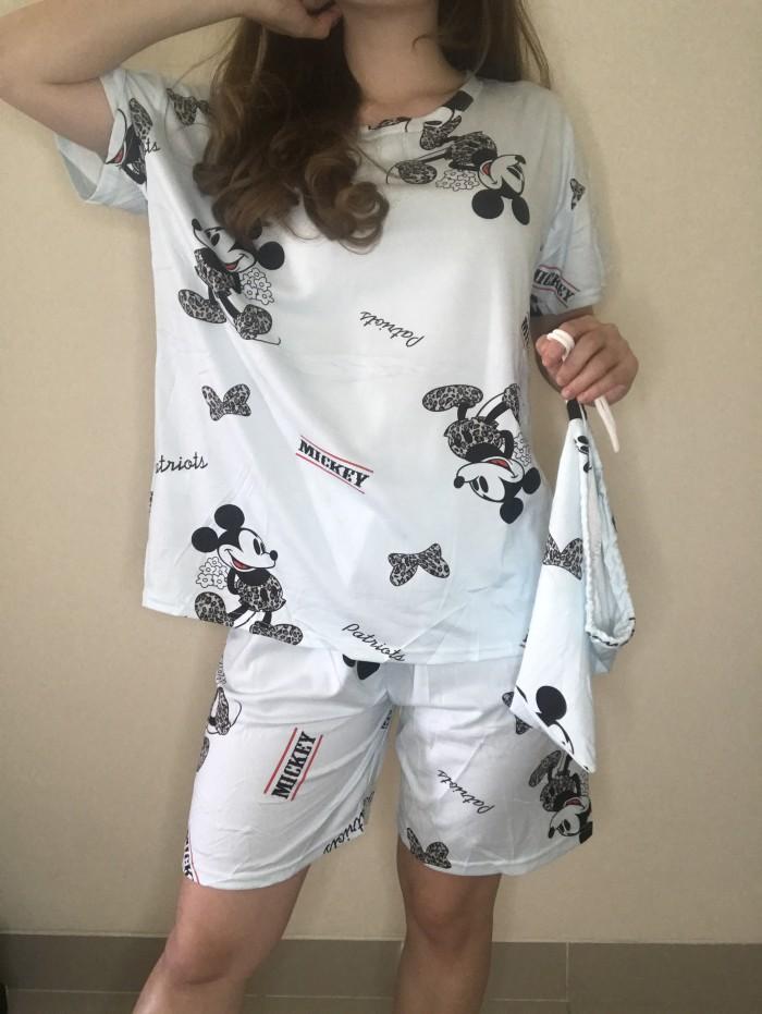 Foto Produk PIYAMA KATUN KAOS IMPORT MOTIF dari Wear Pajamas