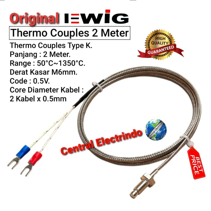 Foto Produk Thermo Couple Temperature Control 2mtr. dari central electrindo