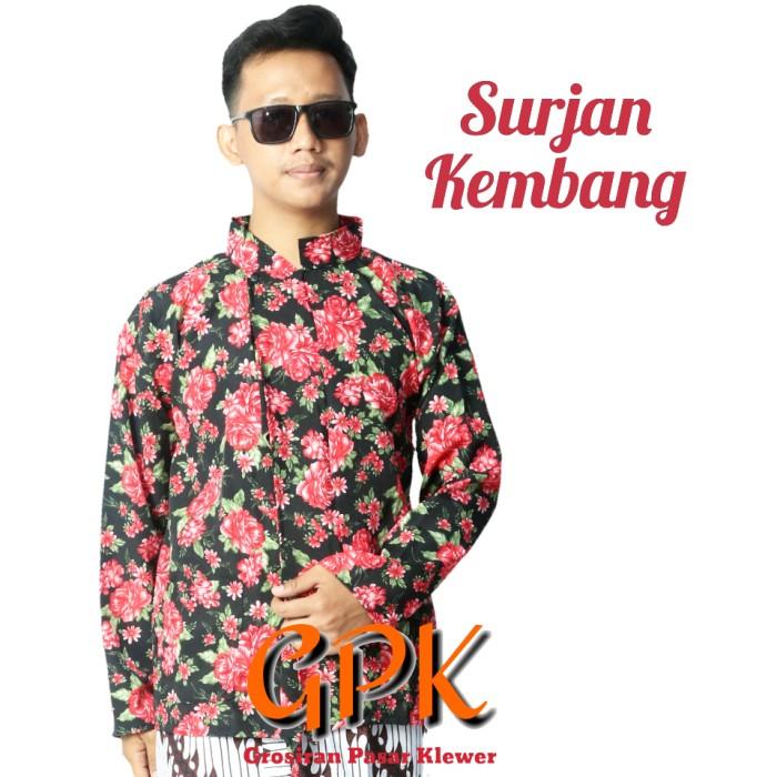 Foto Produk Baju Surjan Kembang Murah Jumbo - XXL dari Grosir Pasar Klewer Solo